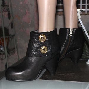 Mike & Chris Paxton Black Ankle Boots NEW $540